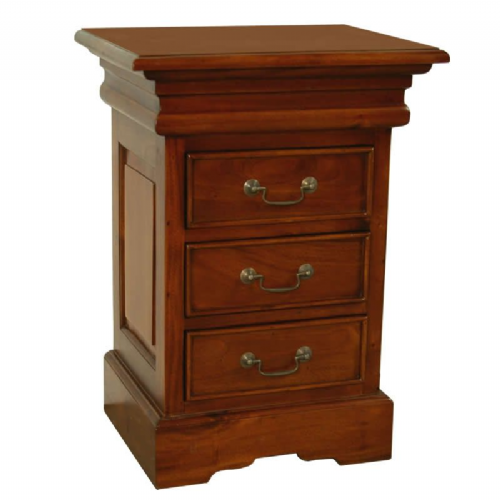 Sleigh Bedside Chest 3 Drawers